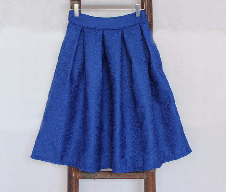 Summer Style Vintage High Waist Work Wear Midi Skirt - Zorket