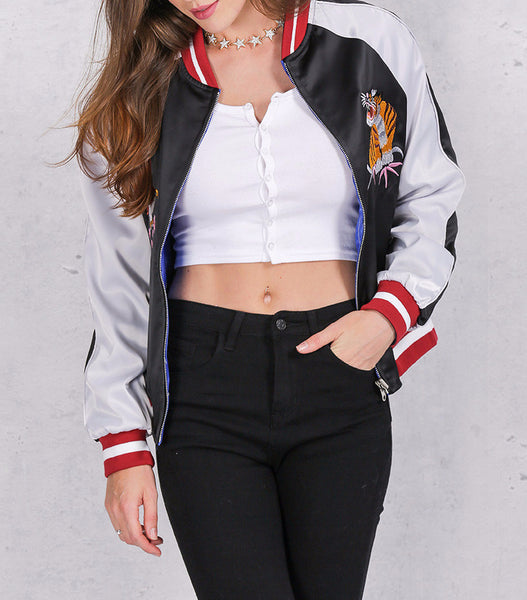 Jacket – Reversible Bomber Jacket With Embroidery | Zorket