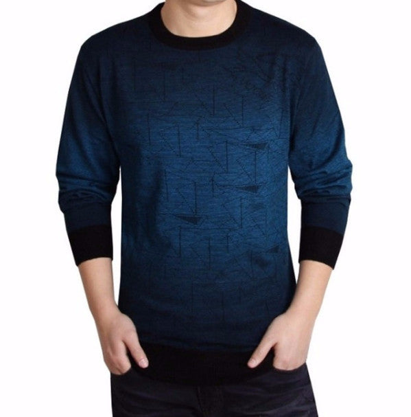 Mens Casual O-Neck Long Sleeve Sweater - Zorket