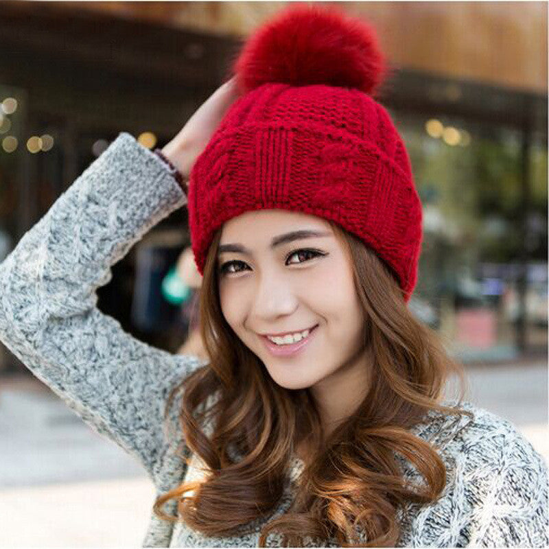 Woman's 100% Acrylic Warm Winter Hat - Zorket