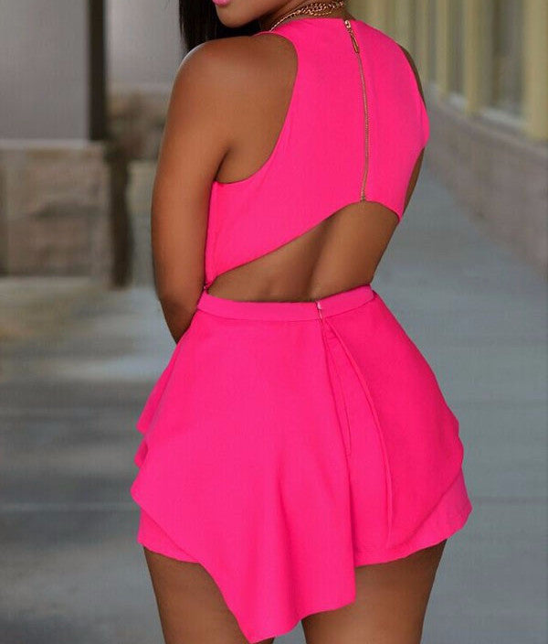 Women's Sleeveless Romper | Black Or Pink - Zorket