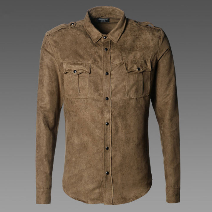 Men's Cotton Casual Army Style Shirt - Zorket