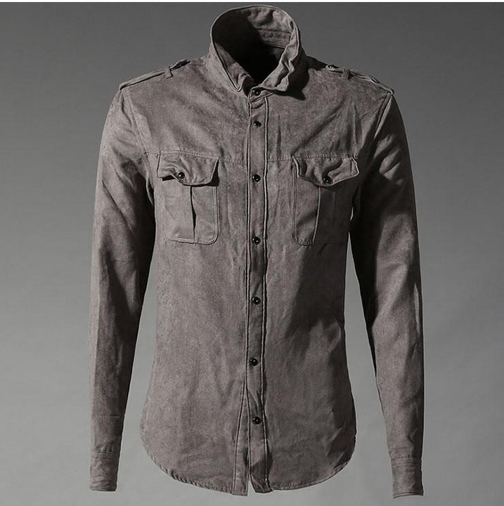 Men's Cotton Casual Army Style Shirt