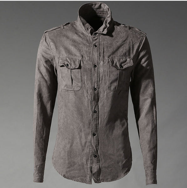Shirt – Men's Cotton Casual Army Style Shirt | Zorket