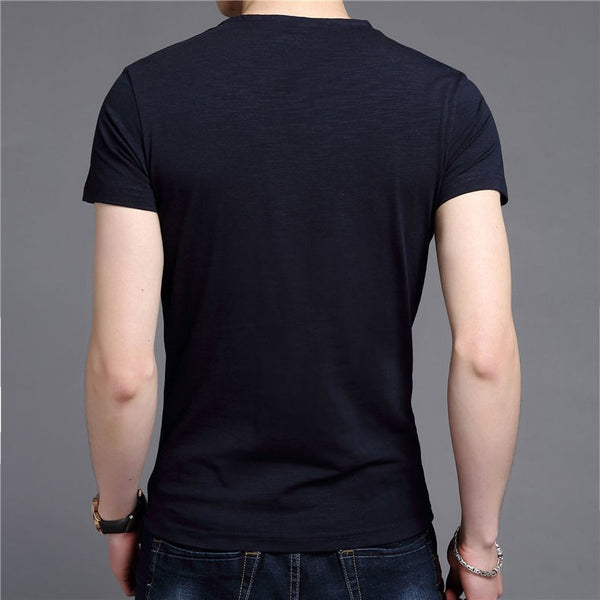 T-Shirt – Men's Slim Fit Cotton V-Neck T-Shirt | Zorket