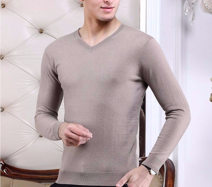 Men's Top Quality Autumn & Winter 100% Wool Sweater - Zorket