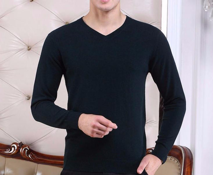 Men's Top Quality Autumn & Winter 100% Wool Sweater