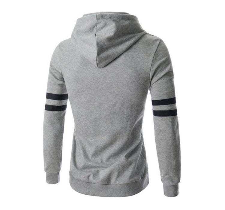 Men's Slim Fit Printed Hooded Sweatshirt - Zorket