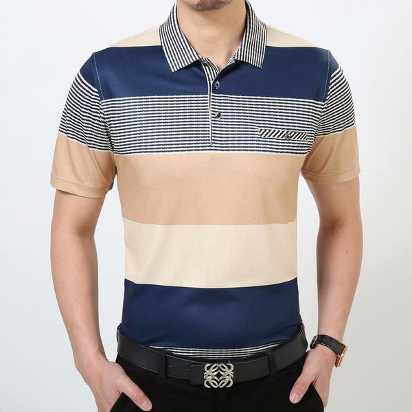 T-Shirt – Men's Casual Cotton Striped T-Shirt With Pocket | Zorket