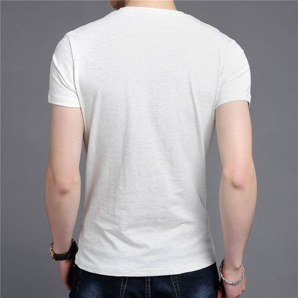 T-Shirt – Men's V-Neck Slim Fit Short Sleeve T-Shirt | Zorket