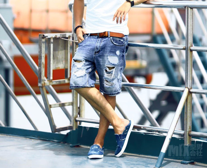 Mens Denim Regular Casual Shorts - Zorket