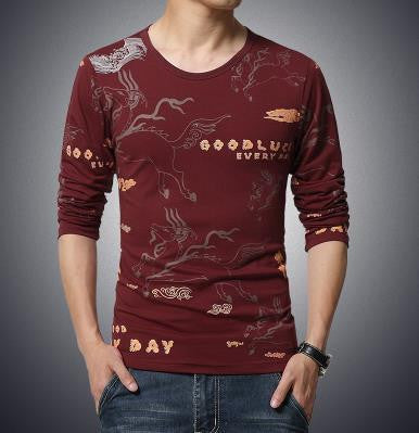 T-Shirt – Men's Long Sleeved O-Neck T-Shirt | Zorket