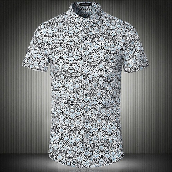 Shirt – Men's Summer Slim Fit Short Sleeve Dress Shirt | Zorket