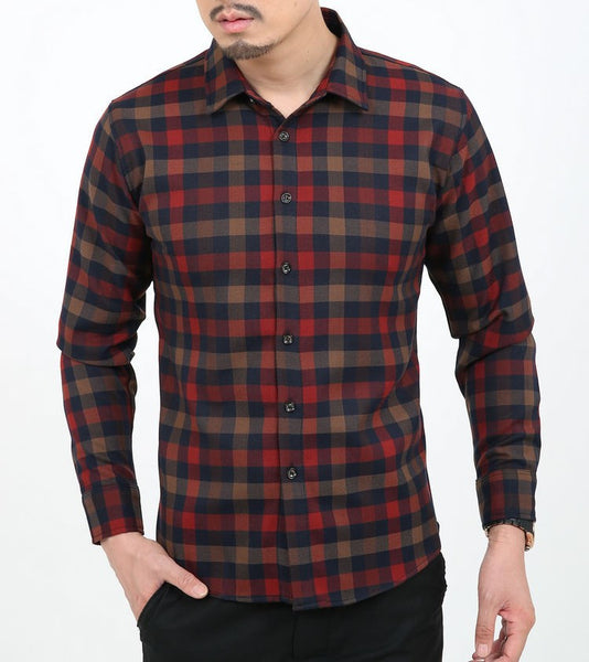 Shirt – Men's Cotton Long Sleeve Classic Plaid Shirt | Zorket