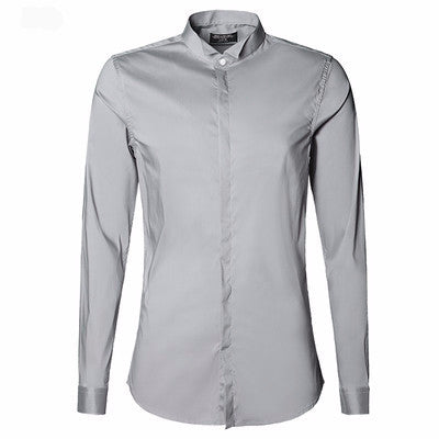 Shirt – Men's Slim Stretch Long Sleeve Business Casual Shirt | Zorket