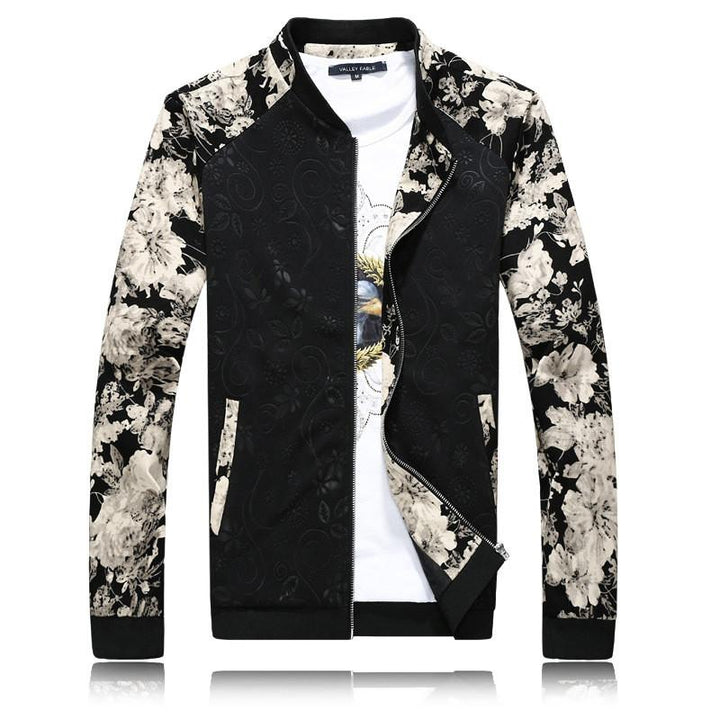 Spring / Autumn Jacket With Flower Pattern
