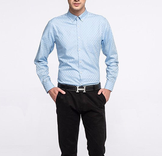 Shirt – Men's Solid Color Long Sleeved Casual Shirt | Zorket