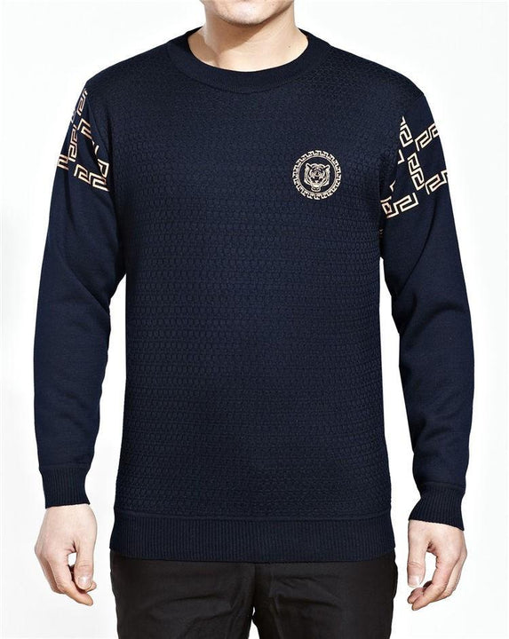Man's Long Sleeve O-Neck Sweater
