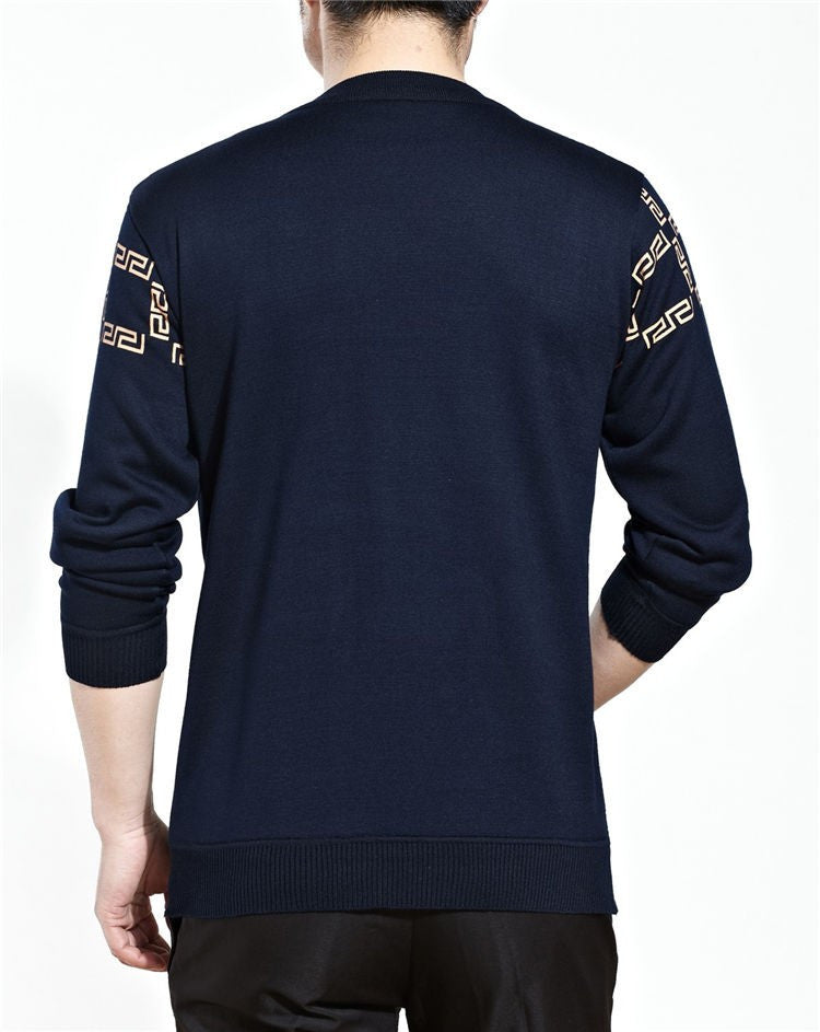Man's Long Sleeve O-Neck Sweater - Zorket