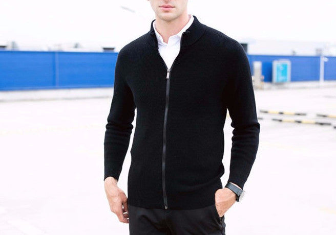 Men's High Quality Winter Thick Warm Woolen Cardigan - Zorket