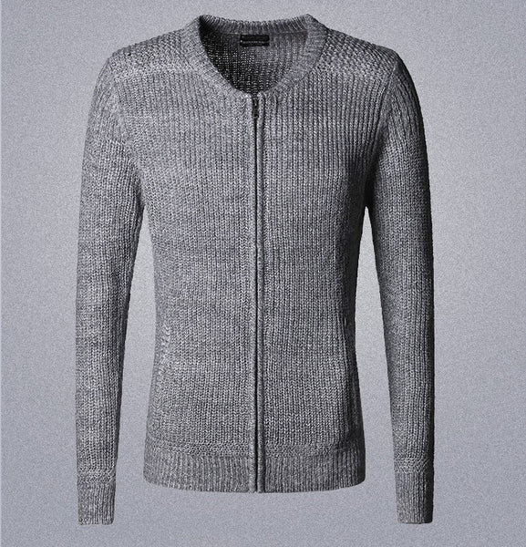 Cardigan – Men's Cotton Casual Zipped Cardigan Sweater | Zorket
