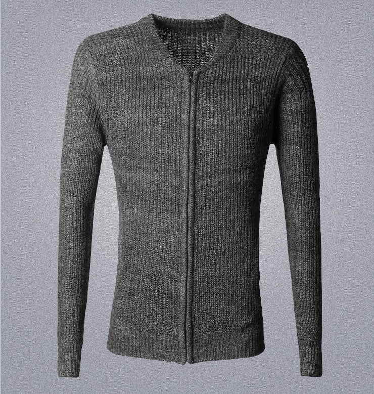 Men's Cotton Casual Zipped Cardigan Sweater - Zorket