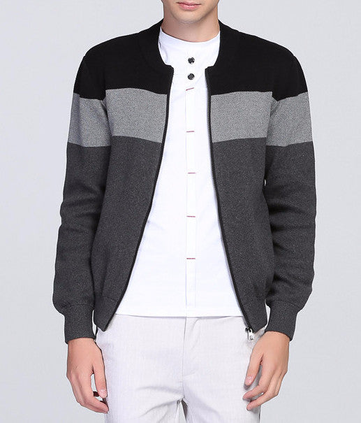 Men's Casual Zipped Cardigan Sweater - Zorket