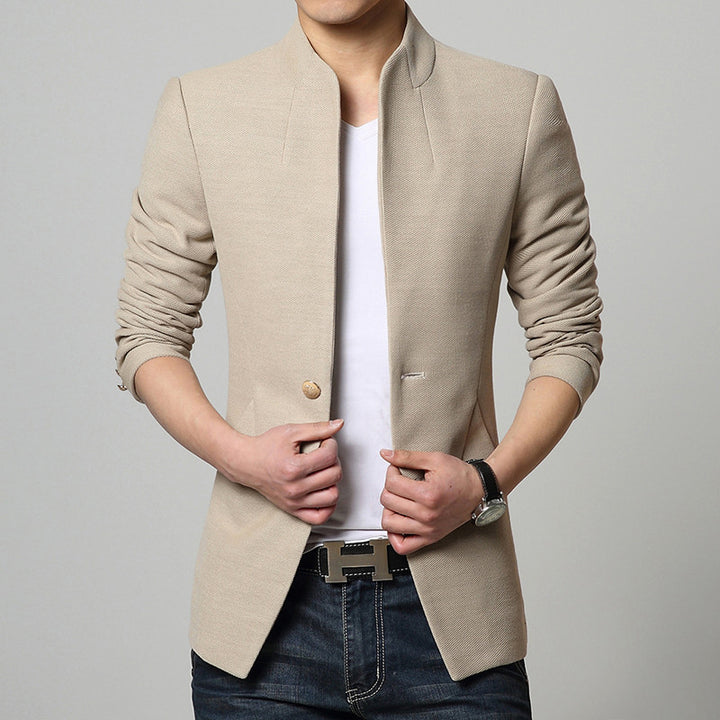 Men's Single-Breasted Casual Suit Jacket - Zorket