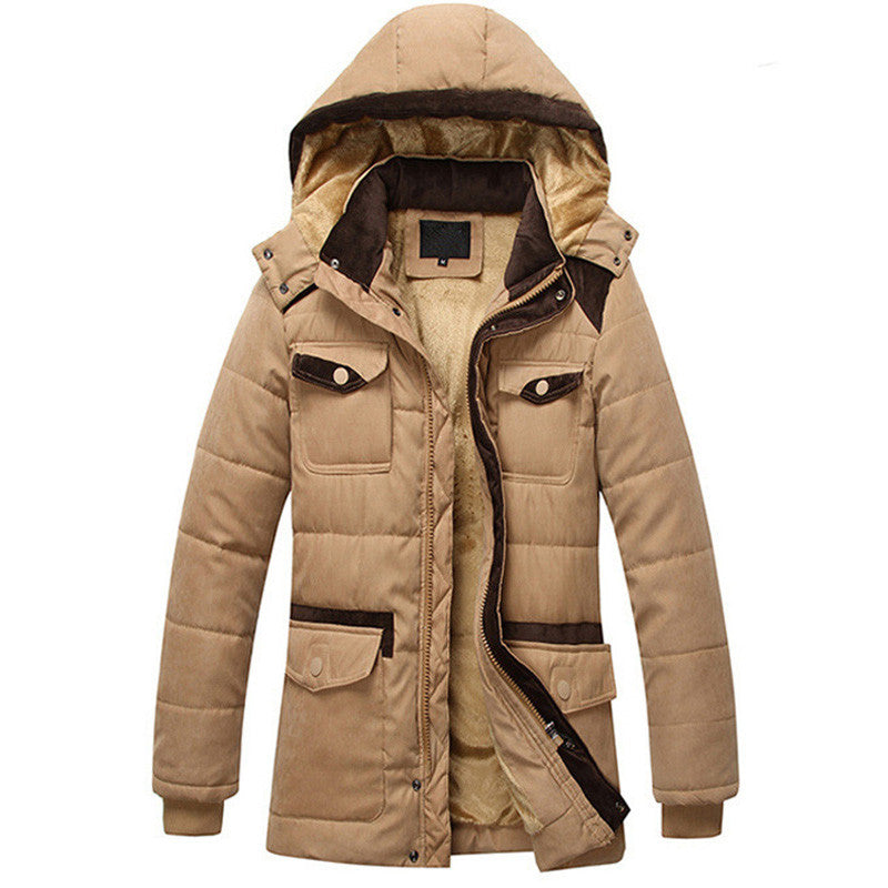 Men's Winter Thick Parka, Warm And Hooded - Zorket