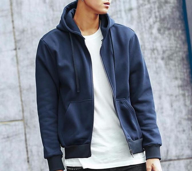Men's Fashion Solid Casual Slim Fit Hoodie