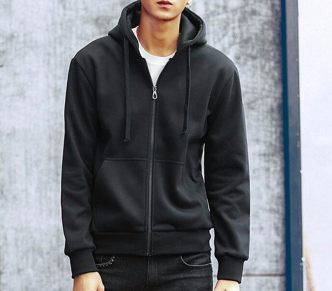 Men's Fashion Solid Casual Slim Fit Hoodie - Zorket