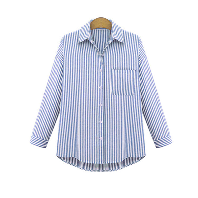 Striped Shirt With Print - Zorket