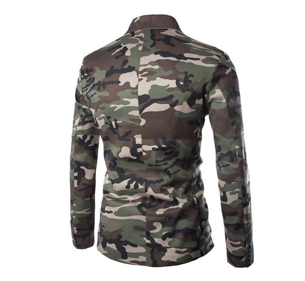 Blazer – Casual Slim Fit Military Style Camouflage Men's Blazer | Zorket