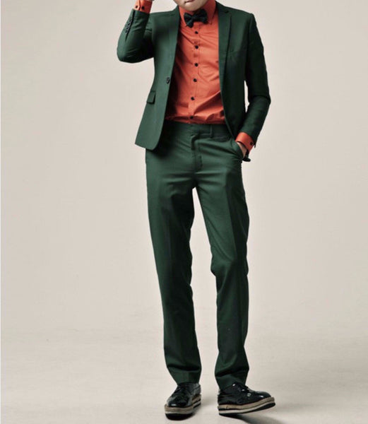 Suit – Men's Wedding Slim Fit One Button Suit (Jacket, Pants, Tie) | Zorket