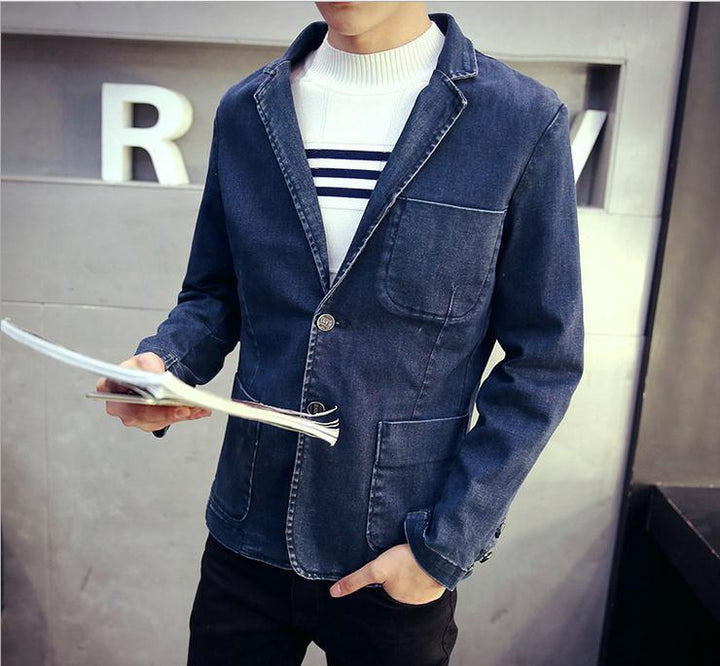 Men's Casual Denim Blazer