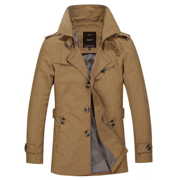 Coat – Men's Autumn / Spring Comfortable Overcoat | Zorket