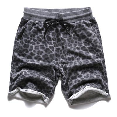 Men's Casual Cotton Leopard Print Shorts