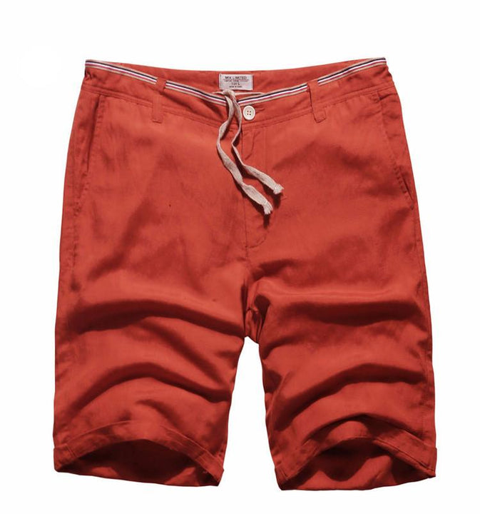 Men's Summer Linen Knee Length Shorts