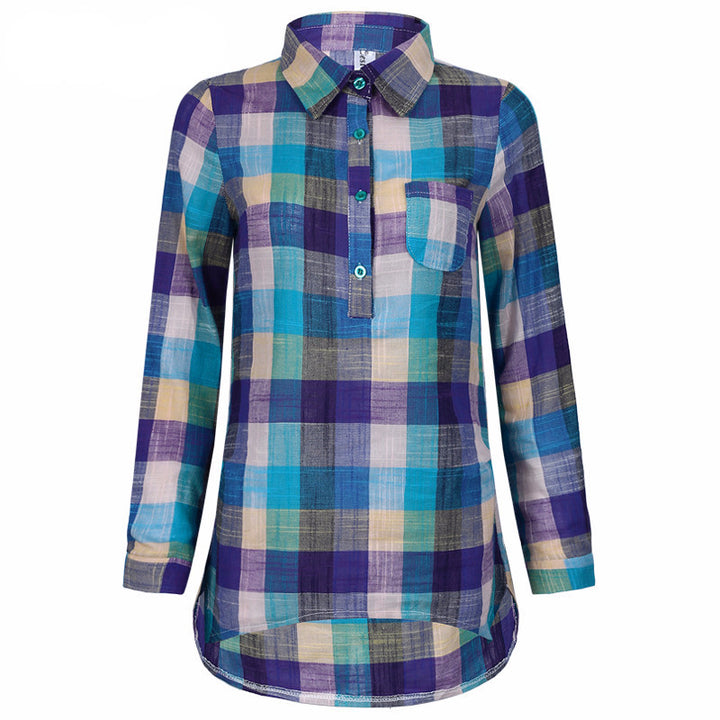 Plaid Shirt Of Cotton - Zorket