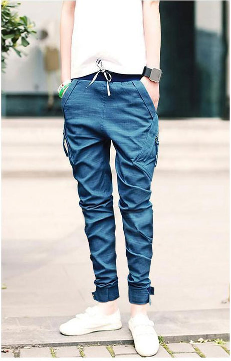 Men's Casual Baggy Cargo Denim Jeans