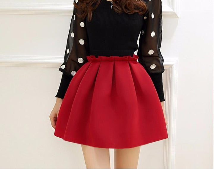 Women's Autumn High Waist Casual Skirt