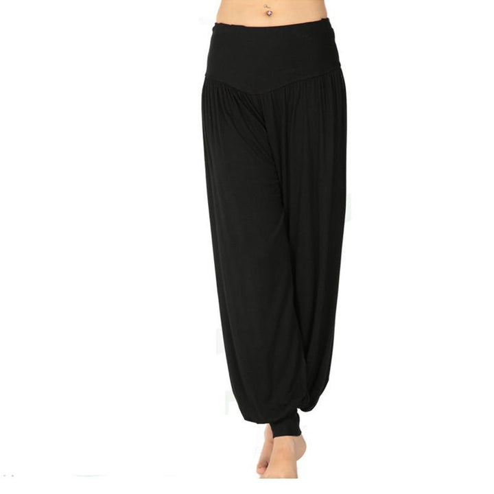 Casual Female Solid Color Loose Hip Hop Pants
