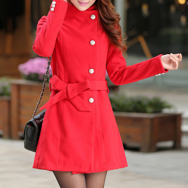 Trench Coat – Women's Winter Warm Long Elegant Trench Coat | Zorket