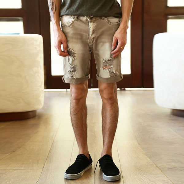 Denim Shorts – Men's Casual Ripped Jeans Shorts | Zorket