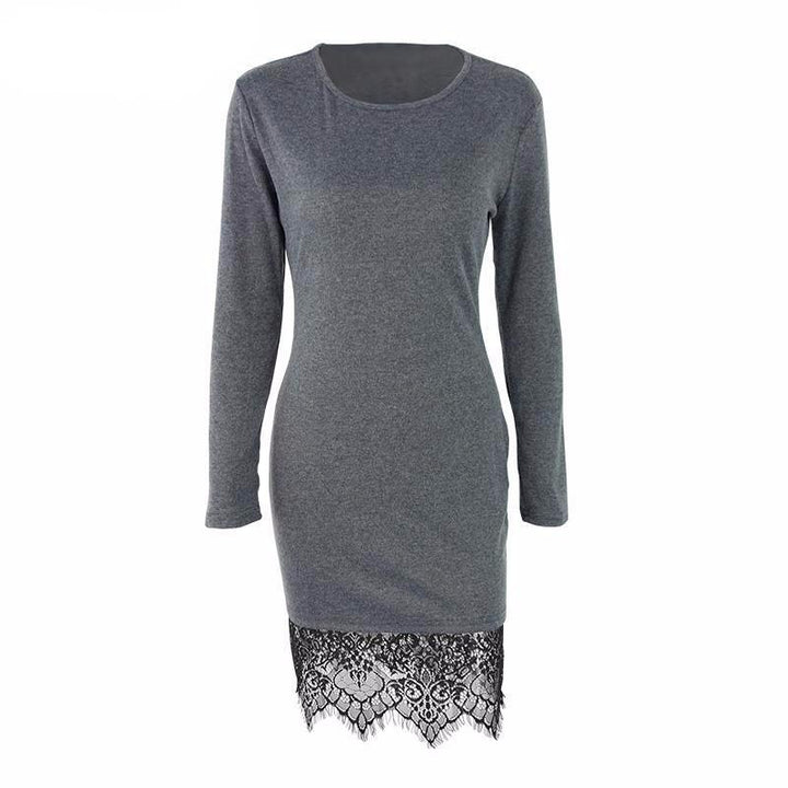 Lace Long Sleeved Casual Dress