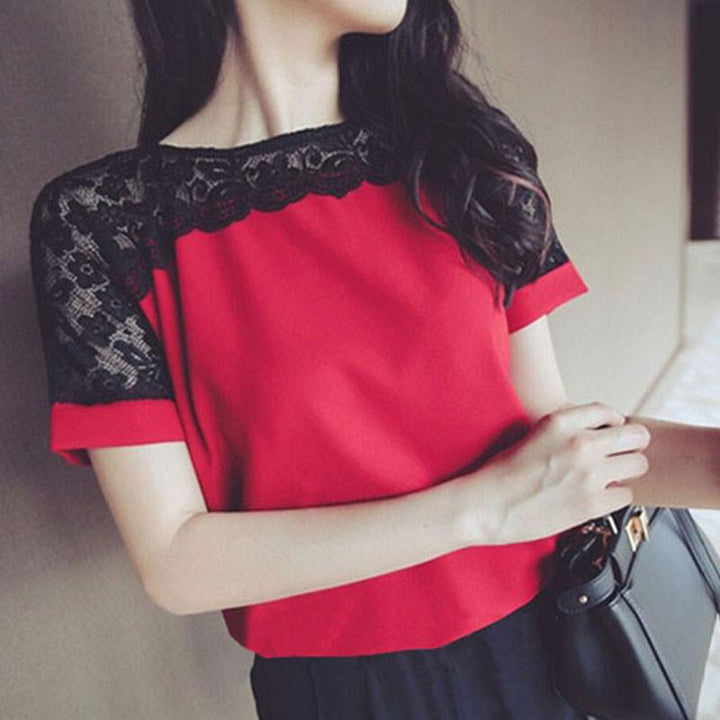 Women's Casual Elegant Lace Blouse