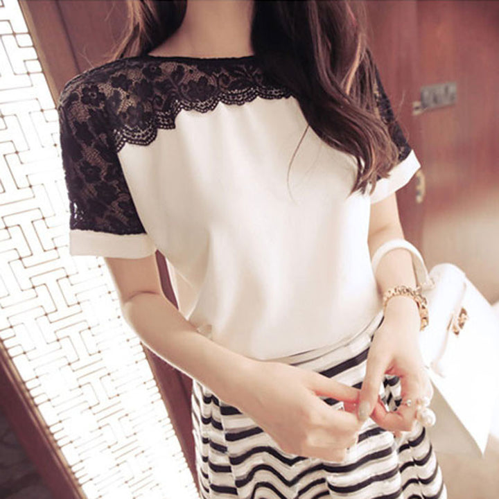 Women's Casual Elegant Lace Blouse - Zorket