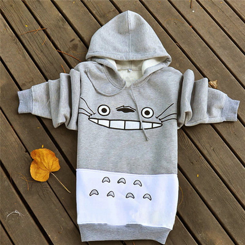 Spring & Autumn Women's Sweatshirt With Cartoon Print - Zorket