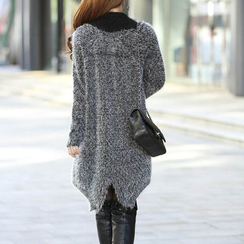 Women's Sweater Long Sleeve Knitted Long Cardigan - Zorket