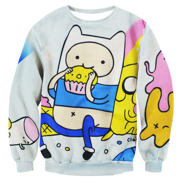 Hoodies & Sweatshirts – Female Funny Cartoon Casual Sweatshirt | Zorket